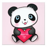 """personalized panda card"" ""personalized thank you custom announcements"