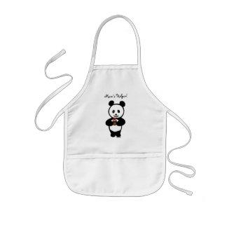 Personalized Panda Cupcake Cartoon Kids' Apron
