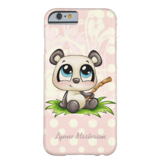 Personalized panda pink polkadots iPhone 6 case