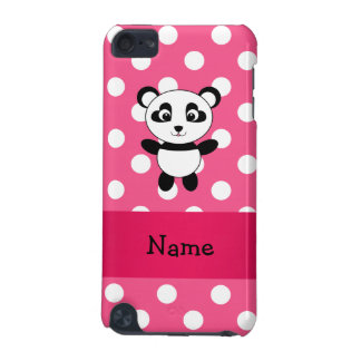 Personalized panda pink white polka dots iPod touch 5G covers
