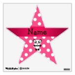 Personalized panda pink white polka dots wall stickers