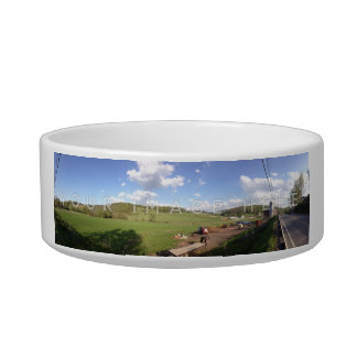 Personalized Panoramic Photo Pet Bowl Designs