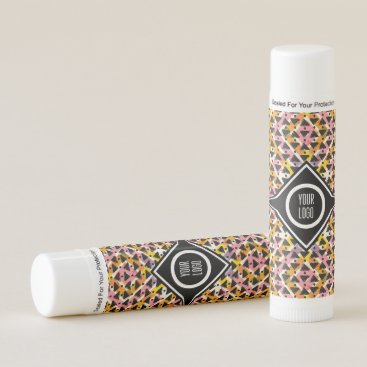 Aztec Themed Personalized paper cut out diamond weave lip balm