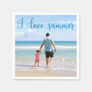 Personalized Paper Napkins Summer Add Photo