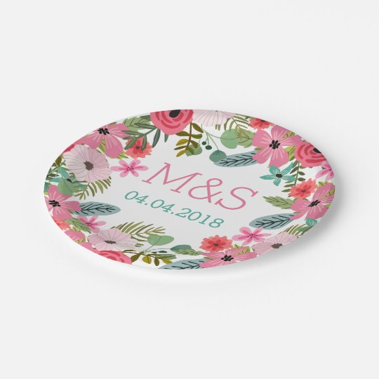 Personalized paper plates Boho floral hand drawn  sc 1 st  Zazzle & Personalized paper plates Boho floral hand drawn | Zazzle.com