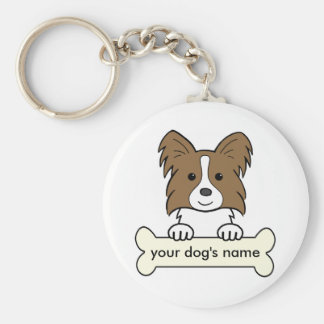 Personalized Papillon Keychains