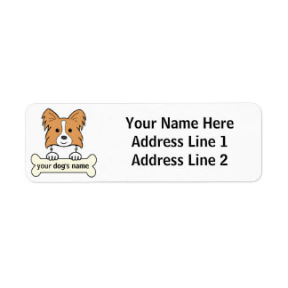 Personalized Papillon Custom Return Address Labels