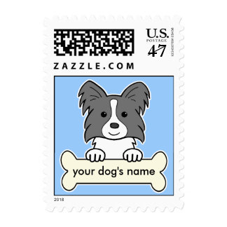 Personalized Papillon Postage