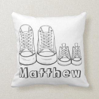 Personalized Parent Kid Sneakers Shoes Baby Pillow