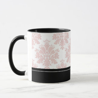 Personalized Paris Pink Damask Mug