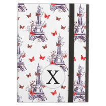 Personalized Parisian Eiffel Tower Purple Chic Case For iPad Air