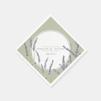 Personalized Party Decor Watercolor Lavender Art Napkin