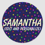 Personalized Party Favor Stickers