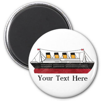 Personalized Passenger Steamship 2 Inch Round Magnet