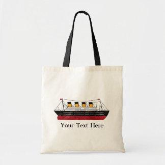 Personalized Passenger Steamship Budget Tote Bag