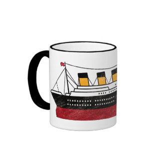 Personalized Passenger Steamship Ringer Coffee Mug