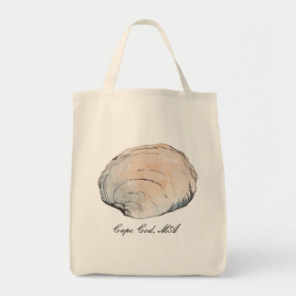 Personalized Pastel Clam Shell Tote Bag