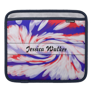 Personalized Patriotic red white blue iPad Sleeve