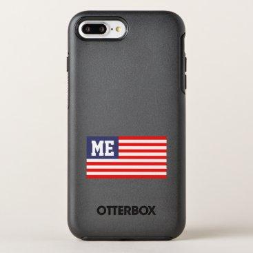USA Themed Personalized patriotic US American flag monogram OtterBox Symmetry iPhone 8 Plus/7 Plus Case
