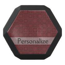 Personalized Pattern Black Bluetooth Speaker