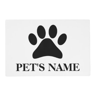 Personalized Paw Print Pet Placemats