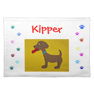 personalized paw print placemat cloth place mat