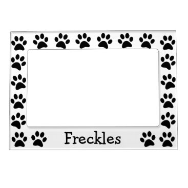 stripedhope Personalized Paw Prints Magnetic Photo Frame