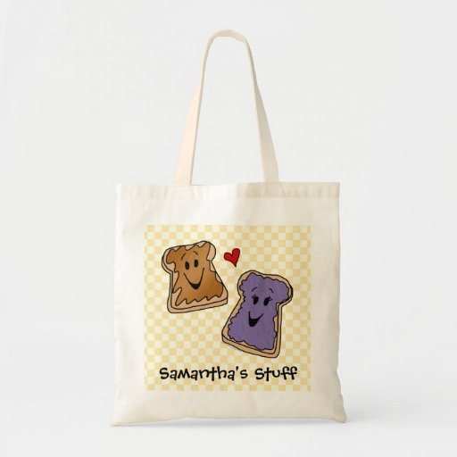 Personalized PB&J Kids Tote/Grocery Bag
