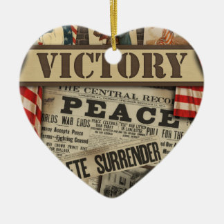 Personalized Peace and Victory WWII Ornament