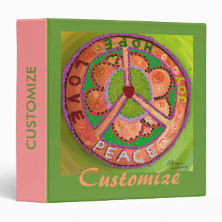Personalized PEACE Back-To-School Signature Binder