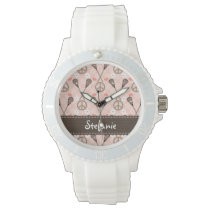 Personalized Peace Lacrosse Wristwatch