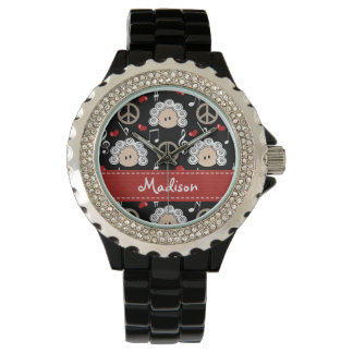 Personalized Peace Love Beethoven Wrist Watch
