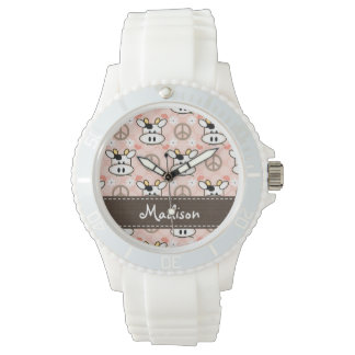 Personalized Peace Love Cows Watches