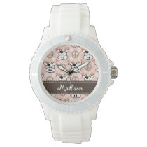 Personalized Peace Love Cows Wrist Watch