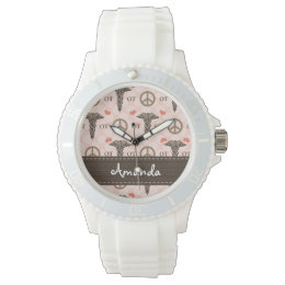 Personalized Peace Love Occupational Therapy Watch