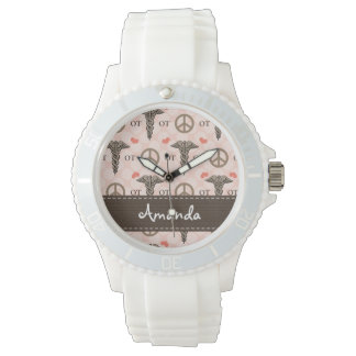 Personalized Peace Love Occupational Therapy Wrist Watches