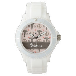 Personalized Peace Love Pharmacy Watch