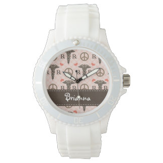 Personalized Peace Love Pharmacy Wristwatches