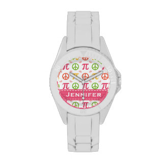 Personalized Peace Love Pi Watch