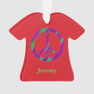 Personalized Peace Sign Christmas Ornaments