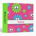 Personalized Peace Sign School Binder