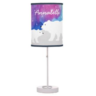 Personalized Peaceful Polar Bears Lamp