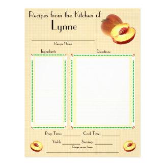 Personalized Peach design recipe page