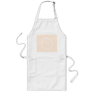 Personalized Peach Puff High End Colored Long Apron