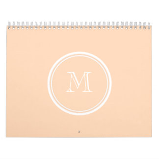 Personalized Peach Puff High End Colored Calendar
