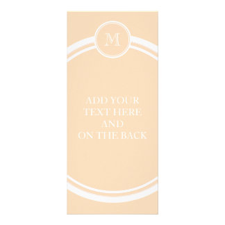 Personalized Peach Puff High End Colored Rack Card
