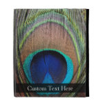Personalized Peacock Feather iPad Case