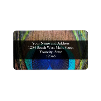 Personalized Peacock Feather Custom Address Labels