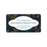 Personalized Peacock Paisley Pattern Bookplate Personalized Address Label