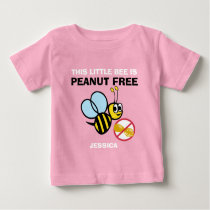 Personalized Peanut Free Bee Kids Cute Do Not Feed Baby T-Shirt